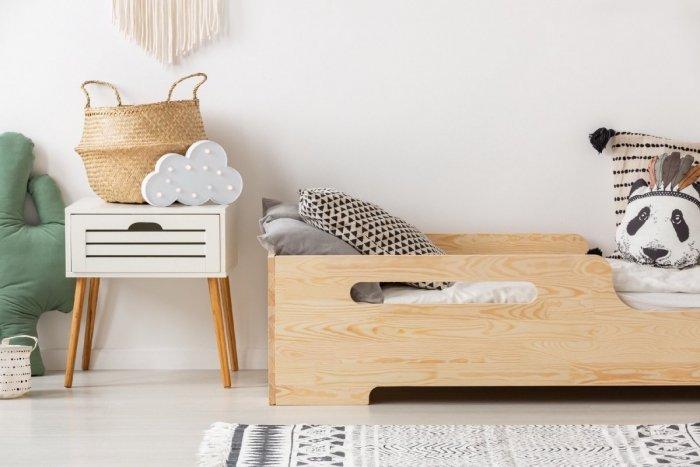 BOX 2 80x190cm Łóżko drewniane dziecięce