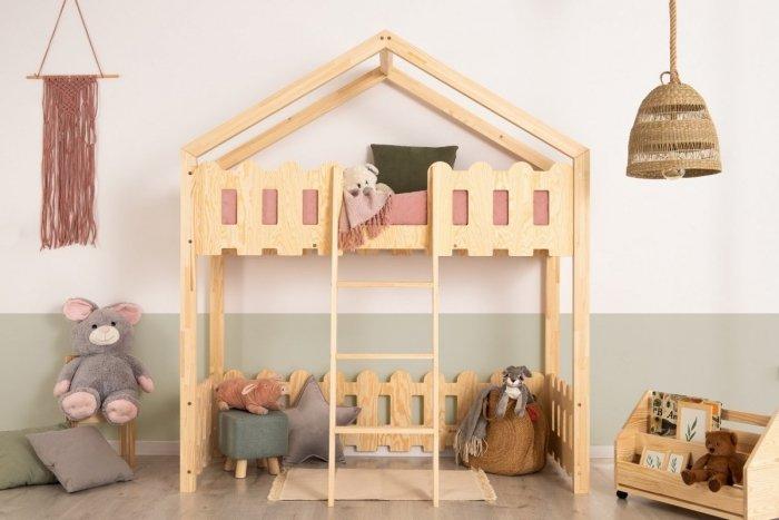 Kaiko PA 80x140cm Łóżko piętrowe dziecięce domek Mila ADEKO