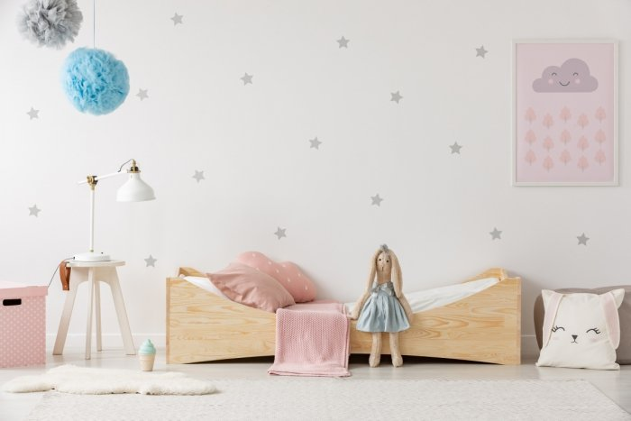 BOX 3 90x170cm Łóżko drewniane dziecięce