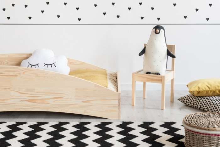 BOX 6 90x140cm Łóżko drewniane dziecięce