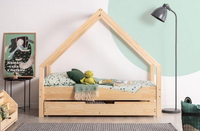 Loca A 70x140cm Łóżko dziecięce drewniane ADEKO