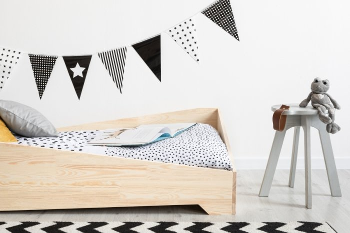 BOX 7 90x150cm Łóżko drewniane dziecięce