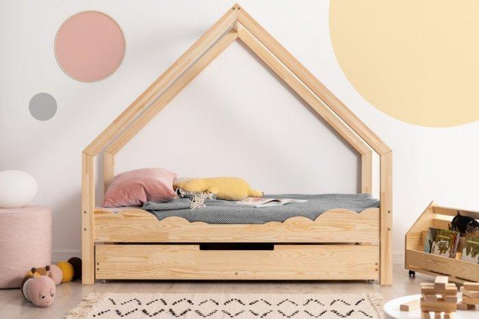 Loca D 90x200cm Łóżko dziecięce drewniane ADEKO