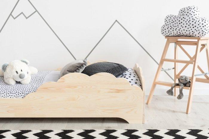BOX 9 80x190cm Łóżko drewniane dziecięce