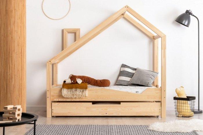 Luna A 100x190cm Łóżko dziecięce domek ADEKO