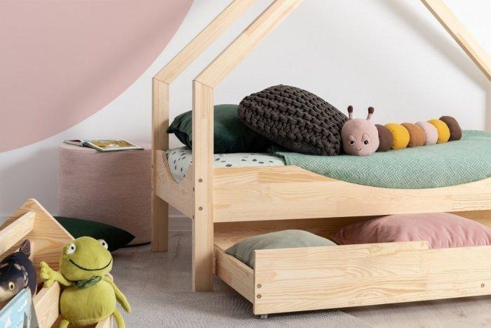 Loca E 80x140cm Łóżko dziecięce drewniane ADEKO