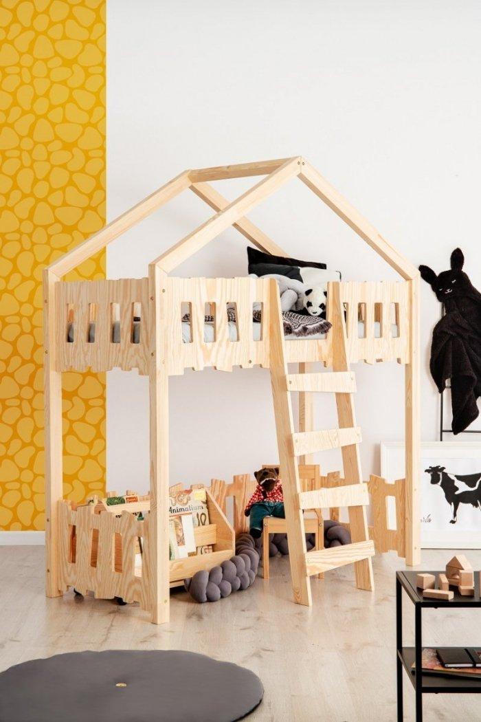 Zippo PA 80x160cm Łóżko piętrowe dziecięce domek Mila ADEKO