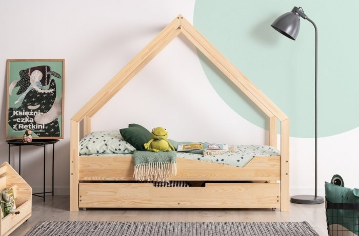 Loca A 90x190cm Łóżko dziecięce drewniane ADEKO