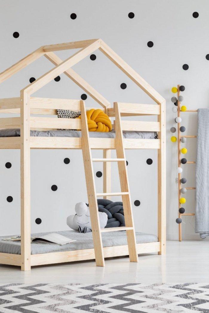 DMP 90x140cm Łóżko piętrowe dziecięce domek Mila ADEKO