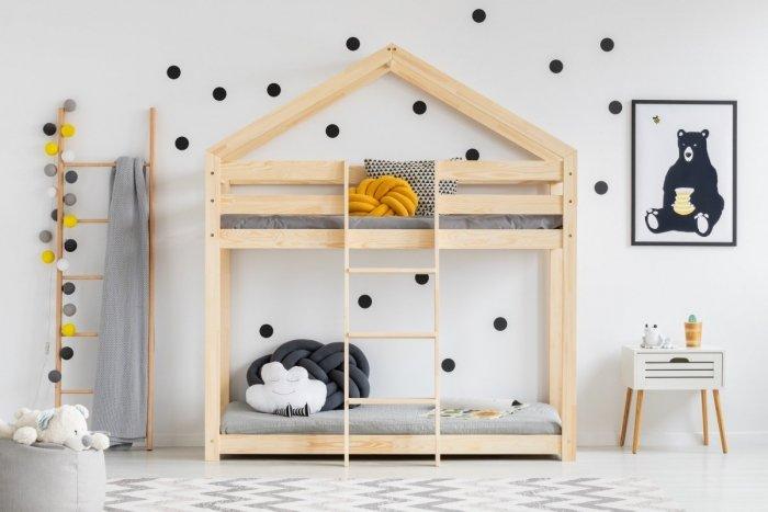 DMP 90x190cm Łóżko piętrowe dziecięce domek Mila ADEKO
