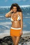 Spódniczka plażowa Marko Meg Incas-Bianco M-266 Mandarynkowo-biała (296)