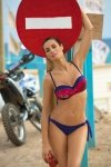 Kostium kąpielowy Marko Daisy Galassia M-300 granatowo-czerwony z graffiti (175)
