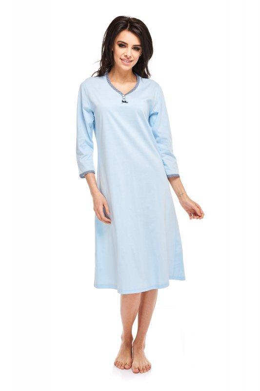 Betina Pamela 236 Błękitna rękaw 3 4 koszula nocna Koszule  8z9ff