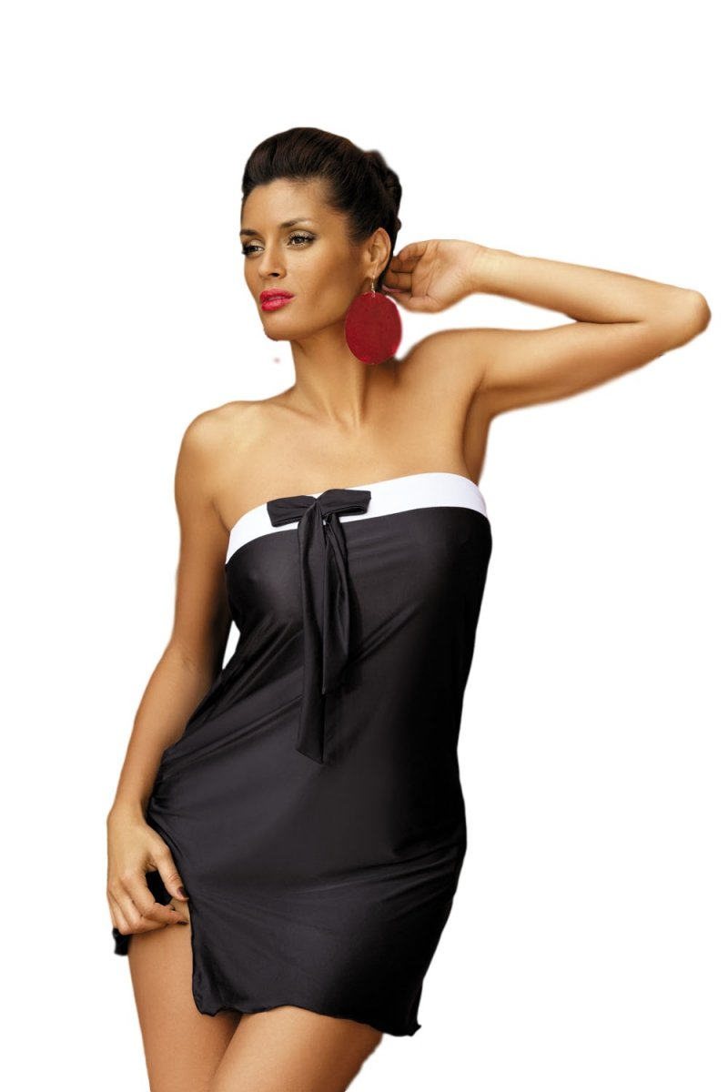2fe46b3666 Tunika plażowa Marko Mia Nero M-241 Czarna (202) - Sukienki plażowe ...
