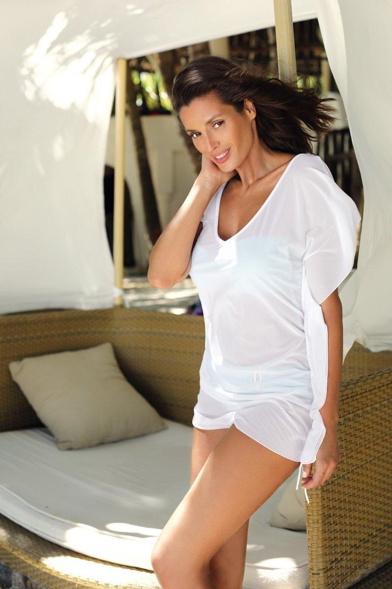 05f284f173 Marko Tunika plażowa Kaya M-516 Bianco - Sukienki plażowe - Kostiumy ...