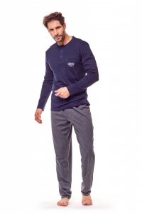 Henderson Guru 36213-59X Granatowo-szara piżama męska