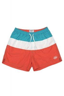 Henderson Heat 37835-22X Pomarańczowo-niebieskie męskie szorty kąpielowe