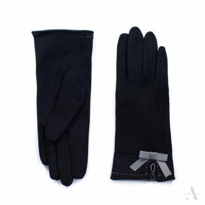Art of Polo St. Louis Czarne rękawiczki damskie