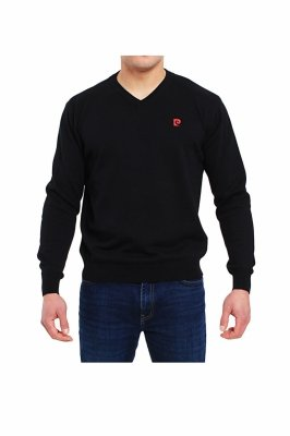 Pierre Cardin V-Logo czarny Sweter