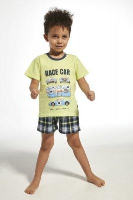 Cornette 789/68 kids race car seledyn piżama chłopięca