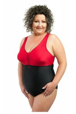 Spin 1000 model 1017 czarny czerwony kostium kąpielowy