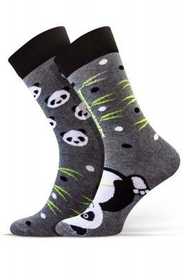 Sesto Senso Finest Cotton Duo Panda Skarpety