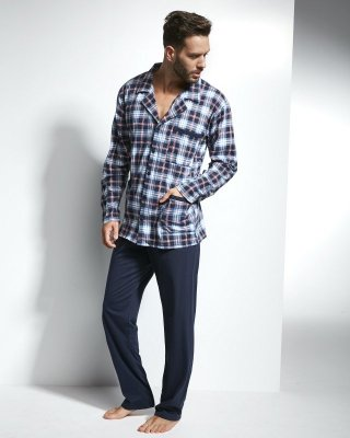 Cornette Mike 114/33 Granatowo-bordowa piżama męska
