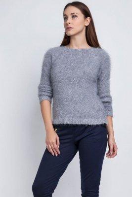 MKM Monique SWE 058 szary Sweter