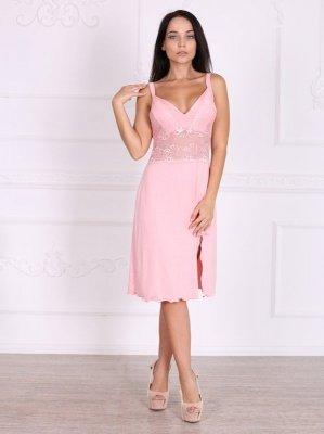 Roksana Sinei 330 Light Pink (Jasnoróżowa) koszula nocna