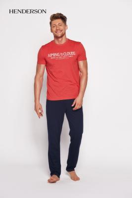 Henderson PJ028 35398-33x Czerwono-granatowa piżama męska
