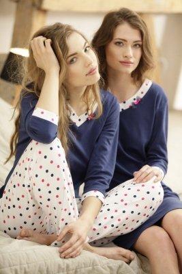 Luna Eleonore 376 Granatowo-ecru piżama damska