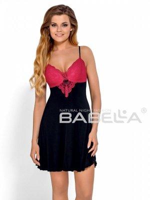 Babella Donatella Czarno-czerwona koszula nocna