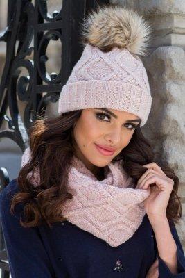 Kamea Ismena Jasno różowa czapka