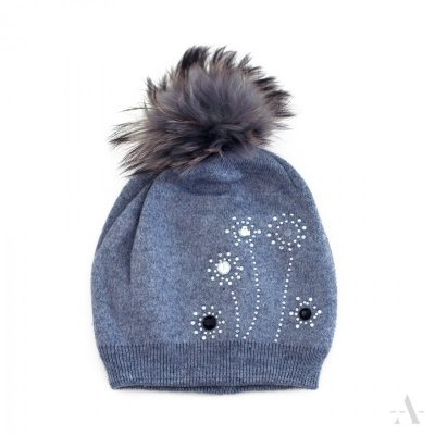 art of polo Dmuchawce Niebieska (z kaszmirem) czapka