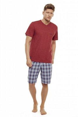 Henderson Trip 35711-33X Czerwono-szara piżama męska