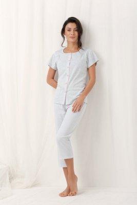 Luna Frances 554 Szara piżama damska