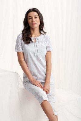 Luna  Emily 567 Szara piżama damska