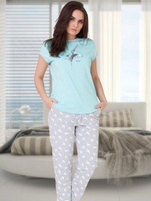 M-Max Liwia 630 Miętowa piżama damska