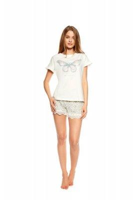 Henderson Twinkle 36812-01X Ecru-szara piżama damska