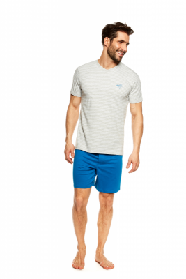 Henderson Jeti 36828-09X Szaro-niebieska piżama męska