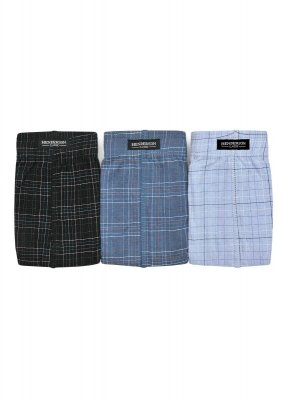 Henderson 1446 Czarne-jeans-niebieskie (zestaw 3 sztuk) slipy