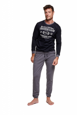 Henderson Winner 37307-99X Czarno-grafitowa piżama męska