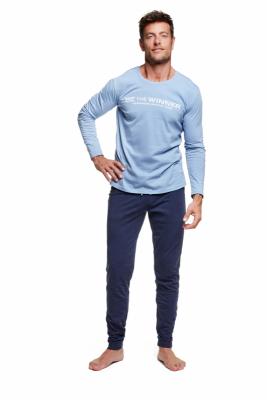 Henderson Wise 37310-50X Niebiesko-granatowa piżama męska
