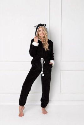 Aruelle Catwoman Onesie Black piżama damska