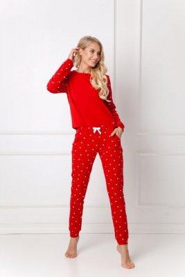 Aruelle  Hearty Set Red dres piżama damska
