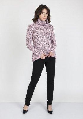 MKMSwetry Nicola SWE 103 Różowy sweter damski