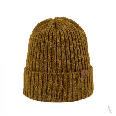 Art of Polo Wywijas Musztardowa czapka damska