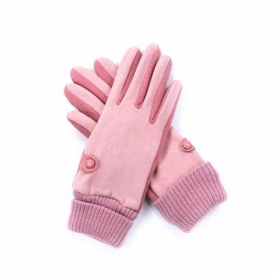 Art of Polo Penelope Różowe rękawiczki damskie