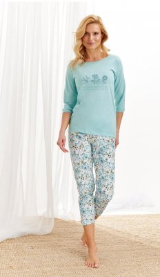 Taro Nina 2234 AW/20 - Kolor 01 - Miętowo-biały piżama damska