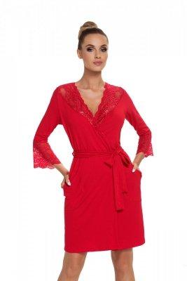 Donna Stella czerwony Szlafrok
